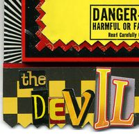 Devil Inside Pin FRONT close up by Harriete Estel Berman