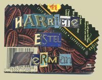 Harriete Estel Berman name pin constructed from recycled tin cans.