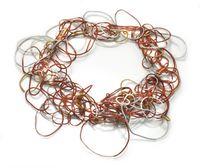 Sayumi Yokouchi red coil neckpeice