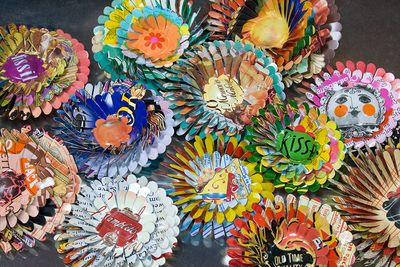 April Flower Brooches by Harriete Estel Berman