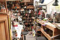 Studio benches in the studio of Harriete Estel Berman.