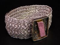 Parallel Universe Woven Wire Bracelet by Victoria Lansford