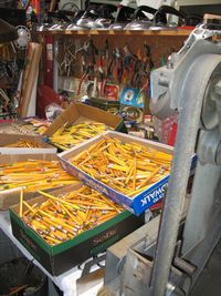 Pencils Sharpening System in the studio of Harriete Estel Berman