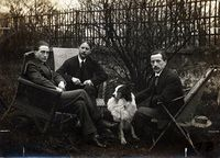 Picture of the Duchamp Brothers who helped sponsor the organization of the famous Armory Show.