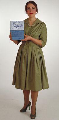 Harriete Estel Berman dressed up like Emily Post