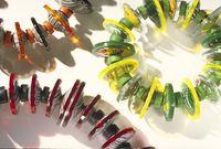 Three bead bracelets by Harriete Estel Berman