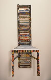 Harriete Estel Berman Consuming Identity a chair constructed from recycled tin cans.