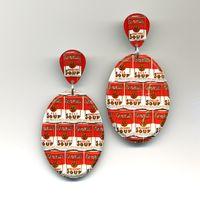 Campbell Soup Multi-Can Earrings by Harriete EStel Berman