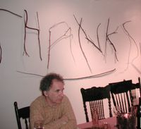 THANKSGiving Wall says THANKS in twigs.
