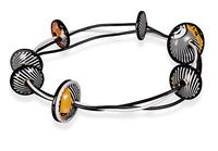 oRBIT BLACK AND wHITE iDENITY nECKLACE BY HARRIETE ESTEL BERMAN
