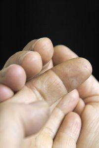 HANDS of Harriete Estel Berman with Jeweler'sTattoos.