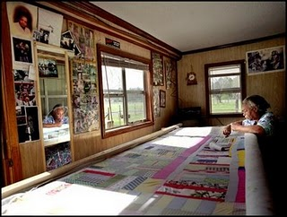 Mary Lee Bendolph quilting