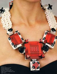 Emiko Oye exhibition necklace from Legos necklace