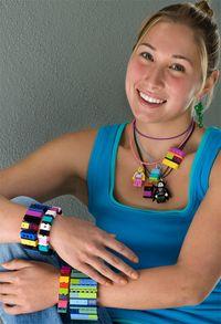 Emiko Oye jewelry on a model
