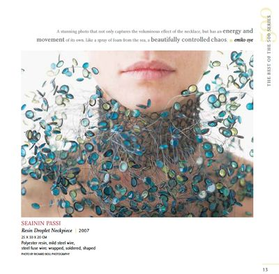 21st Century Jewelry book includes jewelry by  Seainin Passi
