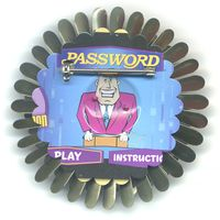 Password Flower Pin (back view)  by Harriete Estel Berman