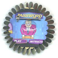 Password Flower Pin (back view)  by Harriete Estel Berman