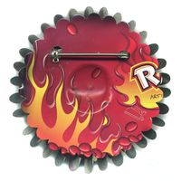 Red Hots Flower Pin by Harriete Estel Berman