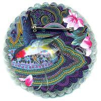 Amaretti Flower Pin by Harriete Estel Berman (back view)