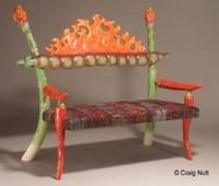 Craig Nutt Burning bench titled