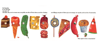 Eric Carle, The Very Hungry Catipillar with holesp