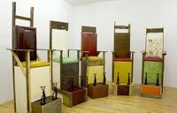 Theaster Gates shoe shine stands