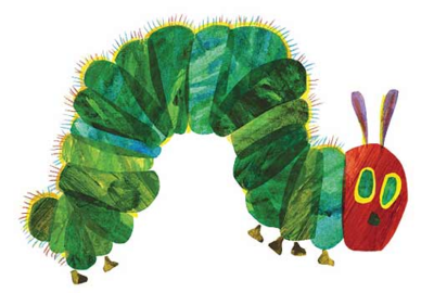 The Very Hungry Catepillar by Eric Carle.