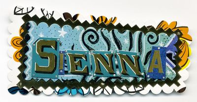 Sienna Name Pin by Harriete Estel Berman
