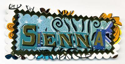 Sienna Name Pin by Harriete Estel Berman