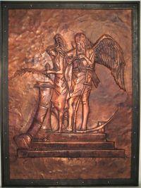 Debra Montgomeray copper reliefodge