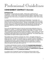 CONSIGNMENT Contract from the