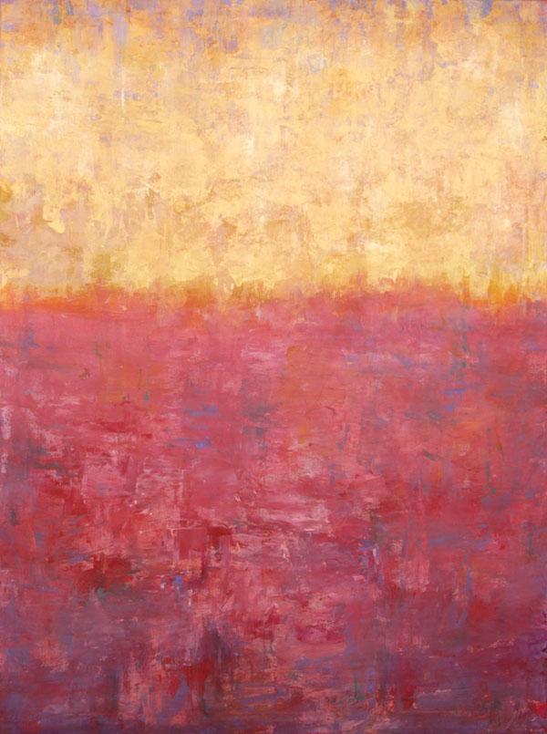 5. Red Sea; 30 x 40 mixed media canvas