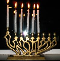CHANUKAH menorah fifth DAY