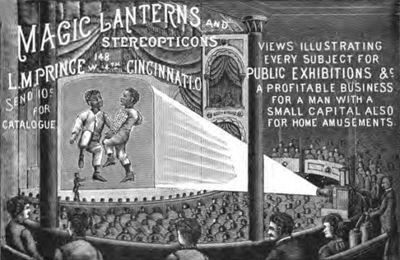 Magic lanterns exhibition poster from 1889