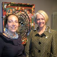 Alyson Stanfield and Harriete Estel Berman at the Loveland Museum