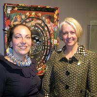Alyson Stanfield and Harriete Estel Berman at the Loveland Museum