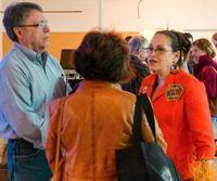 Harriete Estel Berman talking with audience members after professional development programramWart