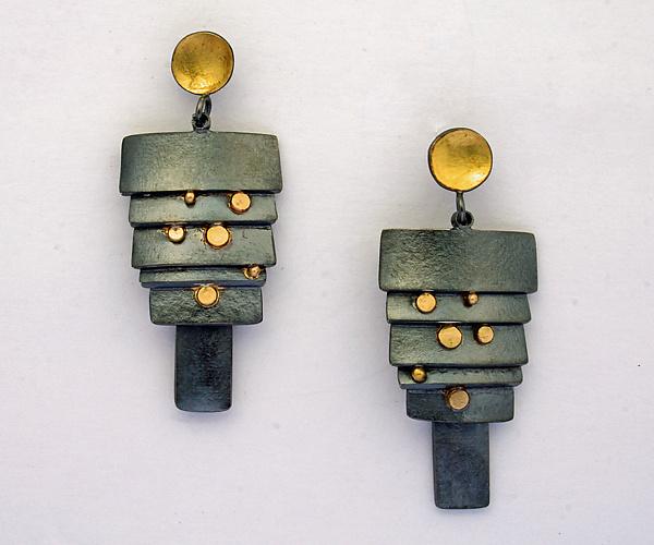 Earrings posts papergold_silver_earrings_f