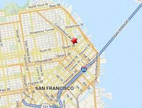 Map of San Francisco, California