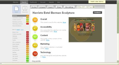 SiteBeam RESULTS  for web site for Harriete Estel Berman