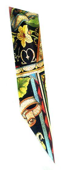 Yellow Flower Scroll Mezuzah by Harriete Estel Berman