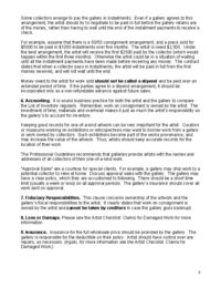CONSIGNMENT Contract from the Professional Guidelines