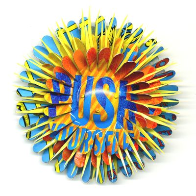 Push Yourself Flower Pin by Harriete Estel Berman