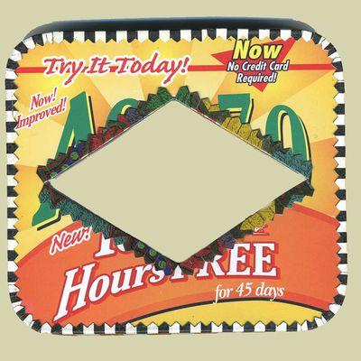 AOL bracelet from recycled AOL tin by Harriete Estel Berman says Try it Today72gr