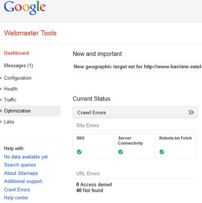 GoogleWebmasterToolsOptimization