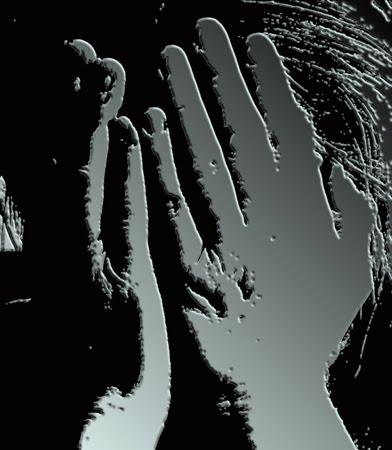 Hands hiding face