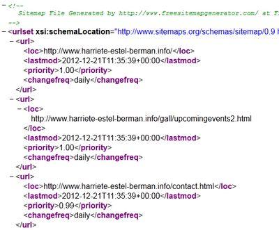 Sitemap HEBexample