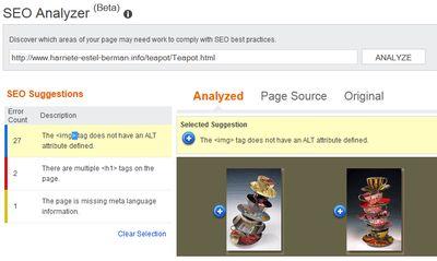 Bing Web ALT Image Tag