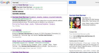 Google AUTHOR results for Harriete Estel Berman