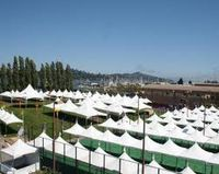 Sausalito art  festival white tents